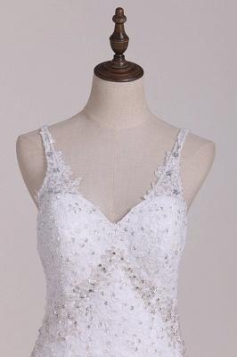 Weiße Brautkleider Meerjungfrau Spitze | Hochzeitskleider Günstig_2