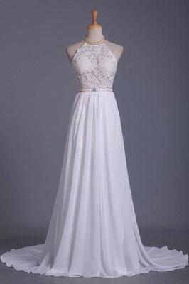 Schlichtes Hochzeitskleid Standesamt | Brautkleid A Linie Spitze_1
