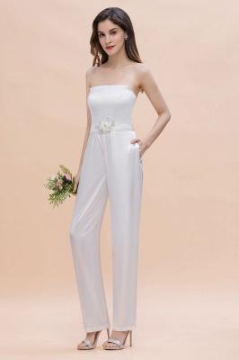 Weiße Brautjungfernkleider | Jumpsuit Kleider Brautjungfer_7