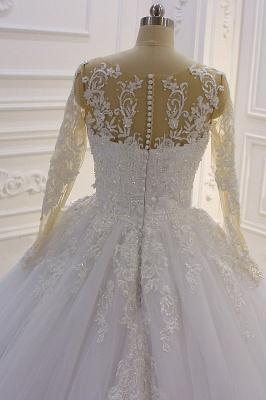 Brautkleider Prinzessin Luxus | Hochzeitskleider Lang Ärmel_5