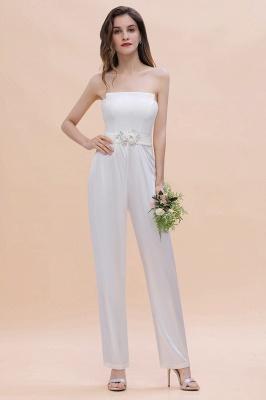 Weiße Brautjungfernkleider | Jumpsuit Kleider Brautjungfer_1