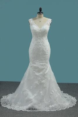 Umstands Hochzeitskleid Meerjungfrau | Brautkleid Spitze Online_1