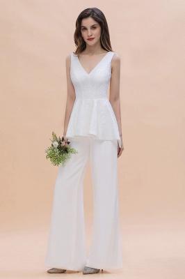 Jumpsuit Brautjungfernkleider Weiß | Kleider für Brautjungfern_4