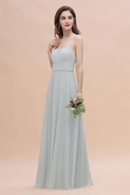 Brautjungfernkleider Lang Mint | Chiffon Kleider Günstig_5
