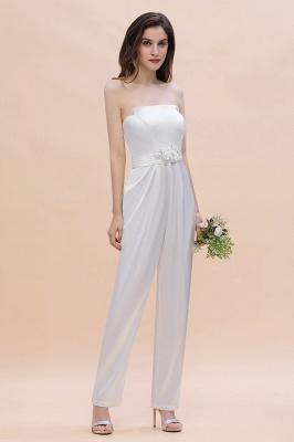 Weiße Brautjungfernkleider | Jumpsuit Kleider Brautjungfer_4