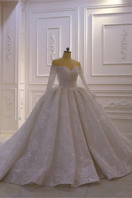 Brautkleider mit Langem Arm | Silbernes Hochzeitskleid_2
