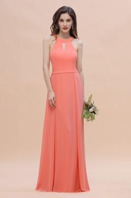 Halter Brautjungfernkleider Lang Chiffon | Hochzeitspartykleider Günstig_4