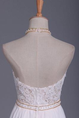 Schlichtes Hochzeitskleid Standesamt | Brautkleid A Linie Spitze_3