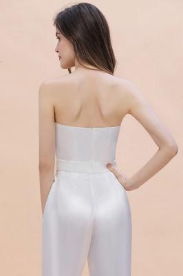 Weiße Brautjungfernkleider | Jumpsuit Kleider Brautjungfer_9