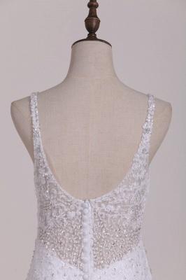 Weiße Brautkleider Meerjungfrau Spitze | Hochzeitskleider Günstig_4
