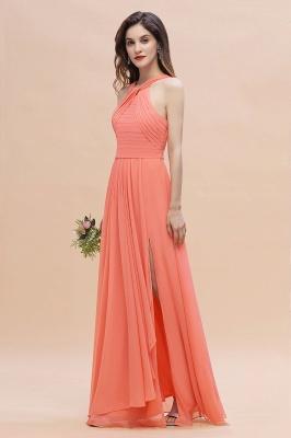 Orange Brautjungfernkleider Günstig   Chiffon Kleider Abendmoden_6