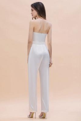 Weiße Brautjungfernkleider | Jumpsuit Kleider Brautjungfer_3