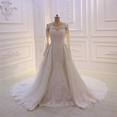 Prinzessinnen Hochzeitskleider mit Glitzer | Brautkleider Lange Ärmel_3