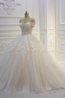 Günstige Hochzeitskleider Prinzessin | Brautkleid Spitze Online_3
