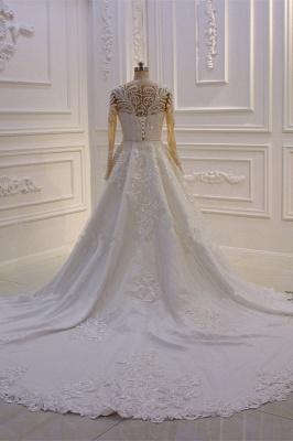 Prinzessinnen Hochzeitskleider mit Glitzer | Brautkleider Lange Ärmel_2