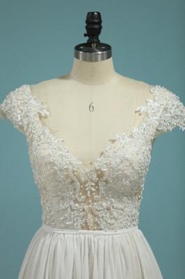 Schlichte Hochzeitskledier Günstig | Brautkleid Mit Spitze_2