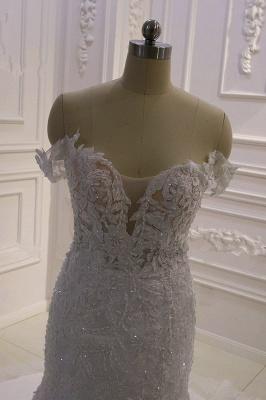 Designer Hochzeitskleid Glitzer | Brautkleid Meerjungfrau Spitze_4