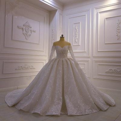 Brautkleider mit Langem Arm | Silbernes Hochzeitskleid_6
