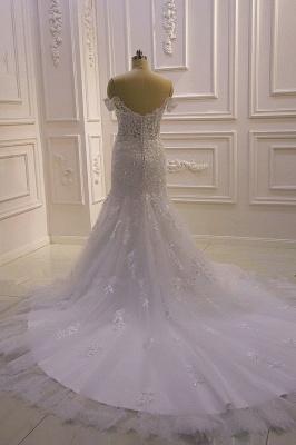 Designer Hochzeitskleid Glitzer | Brautkleid Meerjungfrau Spitze_5