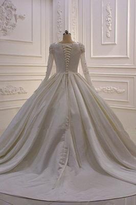 Hochzeitskleider Prinzessin Luxus | Brautkleid Lange Ärmel_4