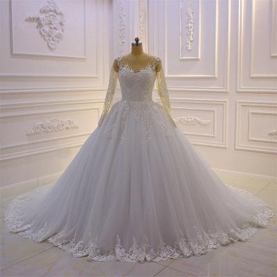 Brautkleider Prinzessin Luxus | Hochzeitskleider Lang Ärmel_1