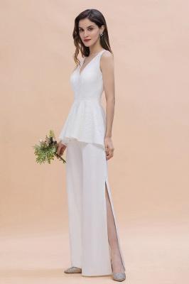 Jumpsuit Brautjungfernkleider Weiß | Kleider für Brautjungfern_7