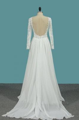 Schlichte Brautkleider mit Ärmel | Hochzeitskleider A Linie_3