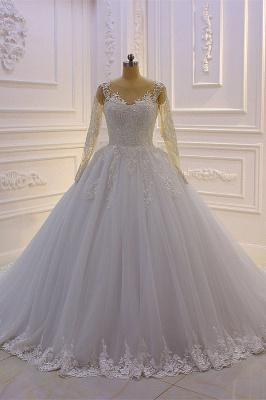 Brautkleider Prinzessin Luxus | Hochzeitskleider Lang Ärmel_2