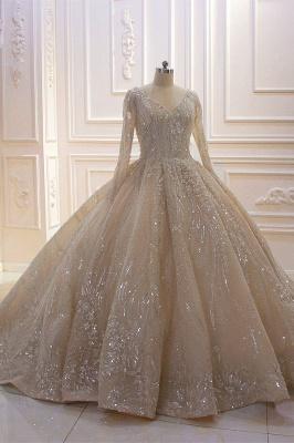 Extravagante Brautkleider Prinzessin | Hochzeitskleider mit Ärmel_3