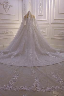 Brautkleider mit Langem Arm | Silbernes Hochzeitskleid_5