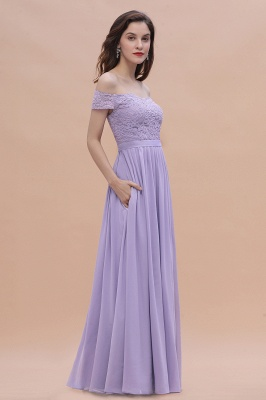 Schicke Brautjungfernkleider Lavender | Brautjungfernkleid Günstig_8