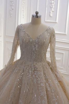 Extravagante Brautkleider Prinzessin | Hochzeitskleider mit Ärmel_4