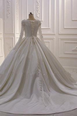 Hochzeitskleider Prinzessin Luxus | Brautkleid Lange Ärmel_5