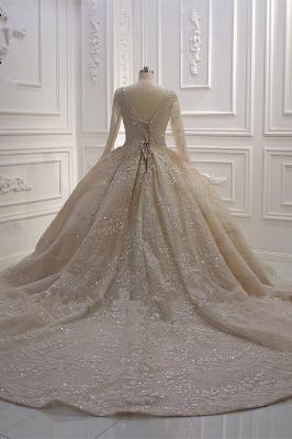 Extravagante Brautkleider Prinzessin | Hochzeitskleider mit Ärmel_6