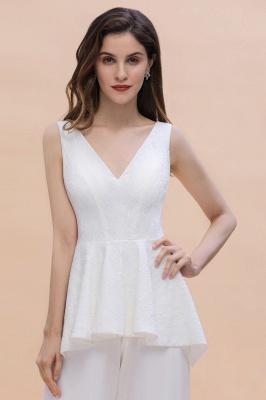Jumpsuit Brautjungfernkleider Weiß | Kleider für Brautjungfern_9
