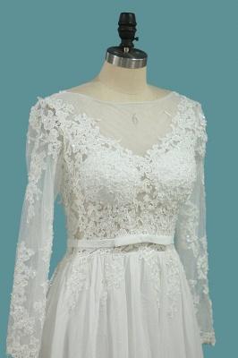 Schlichte Brautkleider mit Ärmel | Hochzeitskleider A Linie_2
