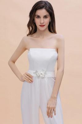Weiße Brautjungfernkleider | Jumpsuit Kleider Brautjungfer_8