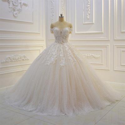 Günstige Hochzeitskleider Prinzessin | Brautkleid Spitze Online_1