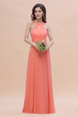 Halter Brautjungfernkleider Lang Chiffon | Hochzeitspartykleider Günstig_1