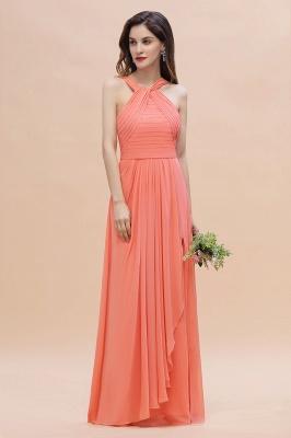 Orange Brautjungfernkleider Günstig   Chiffon Kleider Abendmoden_4