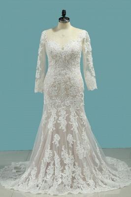 Elegante Brautkleider Meerjungfrau | Hochzeitskleider Mit Ärmel_1