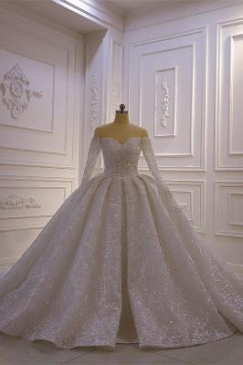 Brautkleider mit Langem Arm | Silbernes Hochzeitskleid_1