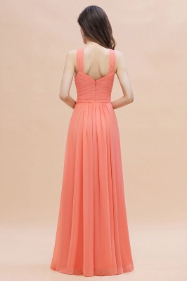 Orange Brautjungfernkleider Günstig   Chiffon Kleider Abendmoden_3