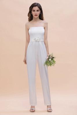 Weiße Brautjungfernkleider | Jumpsuit Kleider Brautjungfer_6