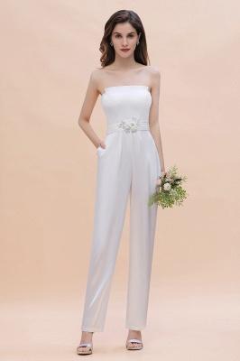 Weiße Brautjungfernkleider | Jumpsuit Kleider Brautjungfer_5