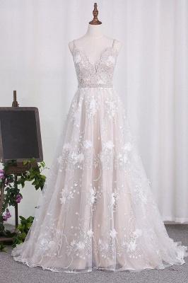 Brautkleid A Linie   Hochzeitskleider Spitze Günstig_1
