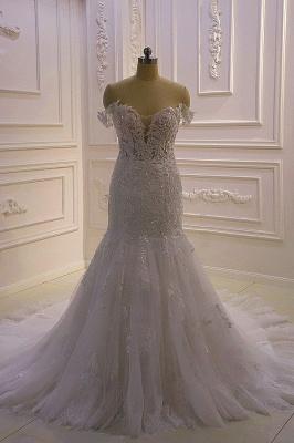 Designer Hochzeitskleid Glitzer | Brautkleid Meerjungfrau Spitze_2