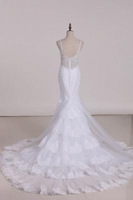 Weiße Brautkleider Meerjungfrau Spitze | Hochzeitskleider Günstig_3