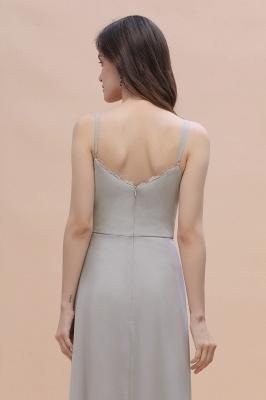 Grau Brautjungfernkleider Lang | Chiffon Kleider Für Brautjungfern_9