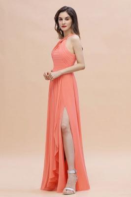 Orange Brautjungfernkleider Günstig   Chiffon Kleider Abendmoden_7